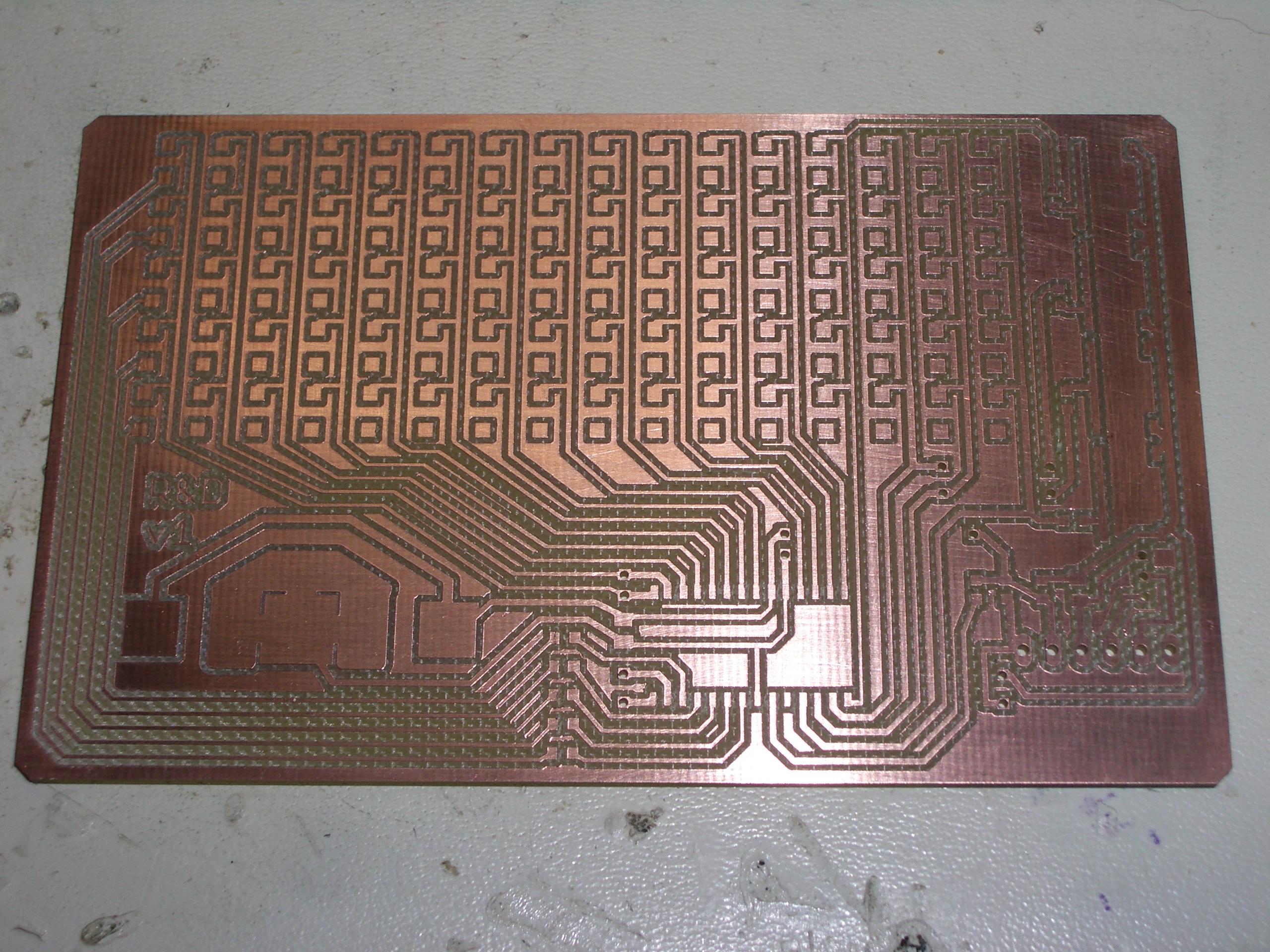 Kean Electronics Matrix Led Display Circuit Freshly Milled Pcb